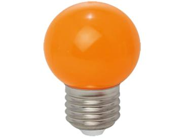 LED Tropfenlampe E27 230V 1W ORANGE